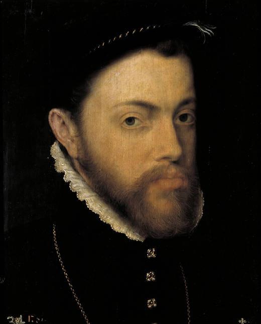 8) KONING FILIPS II VAN SPANJE (1527-1598), King of Spain 1555/58 by Antonio MORO (Anthonis Van Dashorst) - born Dutch (Utrecht c. 1517 - 1577 Antwerp) ~