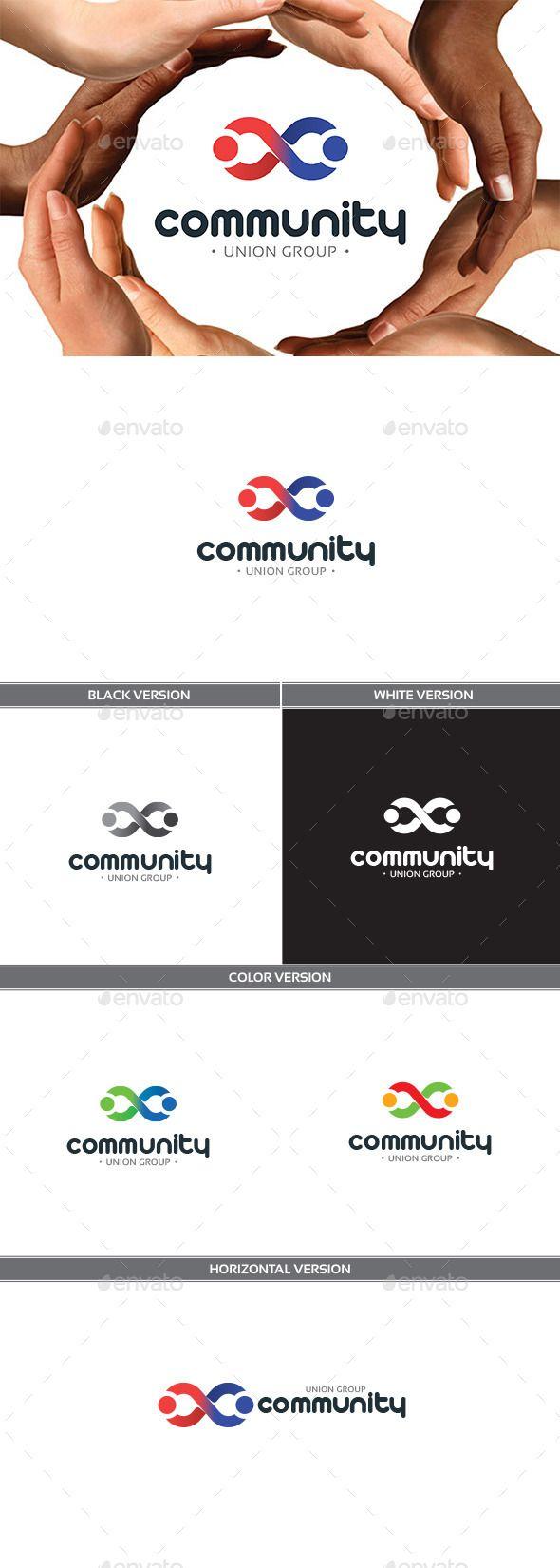 Community Logo Design Template Vector #logotype Download it here: http://graphicriver.net/item/community/11310070?s_rank=912?ref=nexion