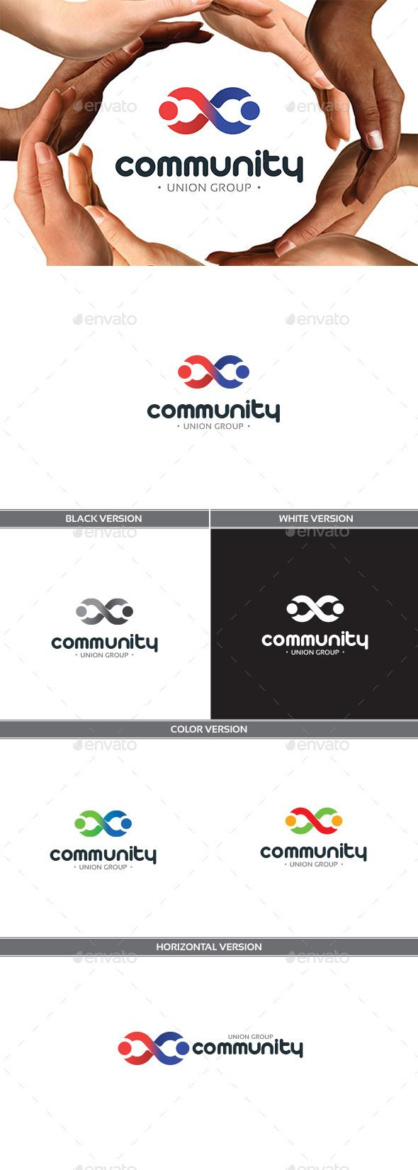 Community Logo Design Template Vector #logotype Download it here: http://graphicriver.net/item/community/11310070?s_rank=912?ref=nexion
