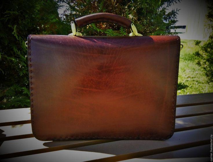 Купить Портфель мужской - портфель из кожи, портфель мужской, портфель кожаный, портфель ручной работы