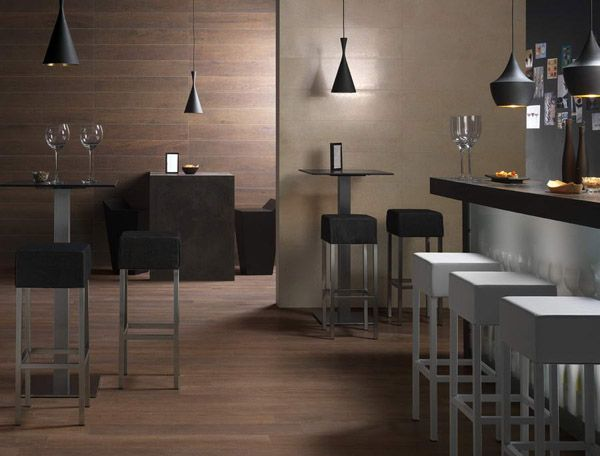 Wood Like Wall Tiles For Kitchen And Dining Room