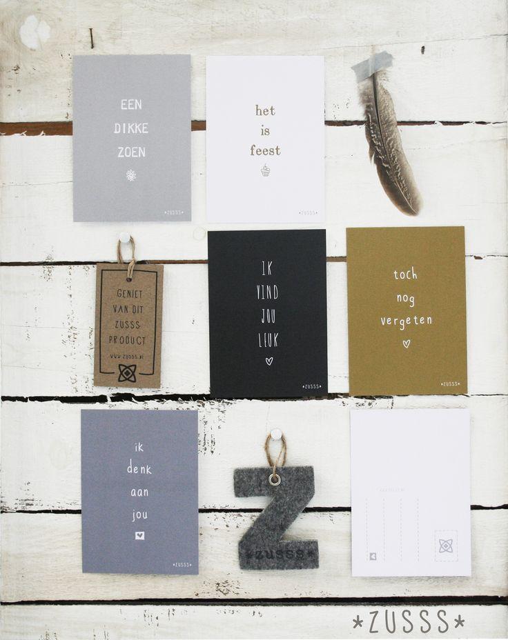 Zusss | Altijd leuk om te versturen, deze  ansichtkaarten met eigenwijze teksten! http://www.bynoth.nl/a-38340534/postkaarten/zusss-posttkaart-tekst-set-10/