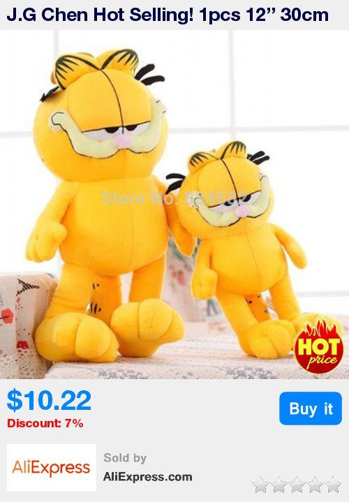J.G Chen Hot Selling! 1pcs 12'' 30cm Plush Garfield Cat Plush Stuffed Toy High Quality Soft Plush Toys Doll Free Shipping * Pub Date: 10:52 Jul 15 2017