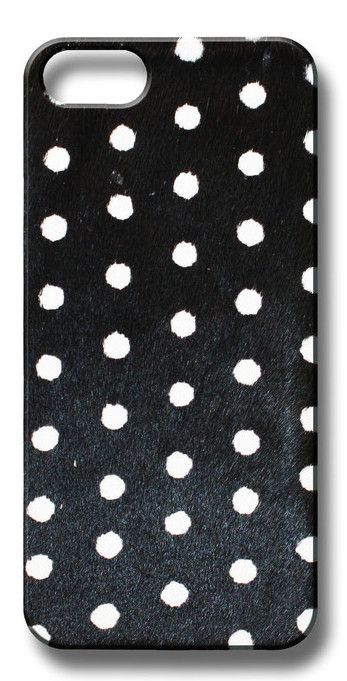 Valenz Handmade Poney Skin B/W Polka Dot iPhone Case