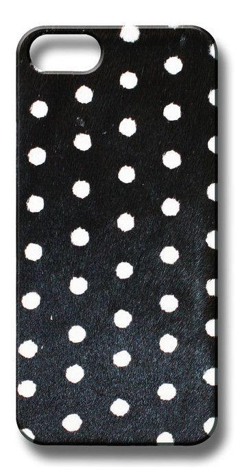 Valenz Handmade Poney Skin B/W Polka Dot iPhone Case