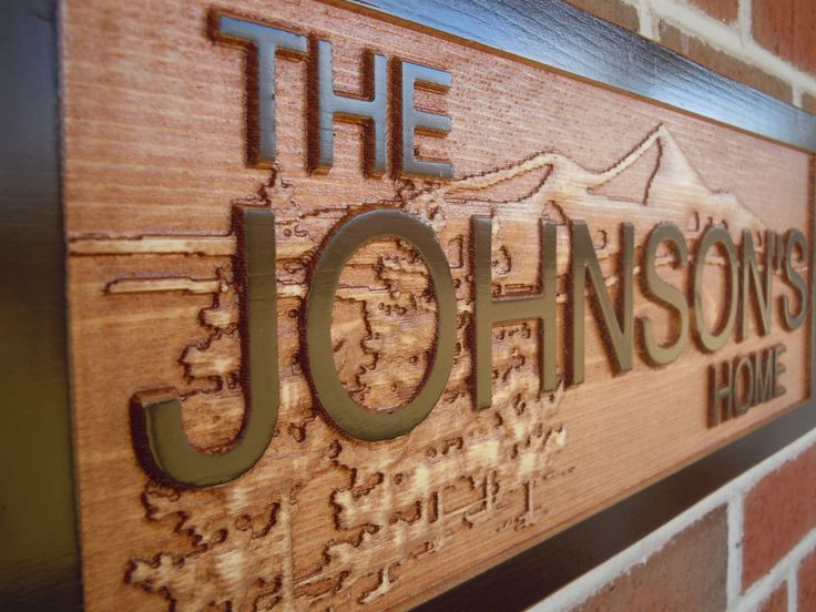 Personalized Home Sign 3d Lettering Mountain Retreat Cabin