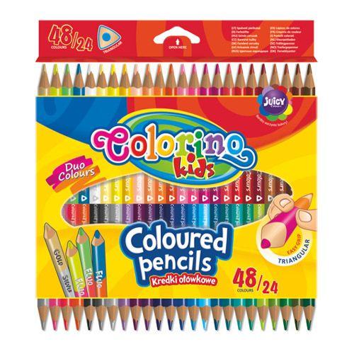Colorino Kids Színes ceruza készlet kétvégű 24/48 szín