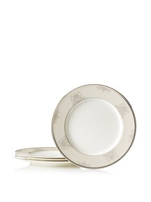 62% OFF Mikasa Floral Elegance Dinner Plate, White/Platinum