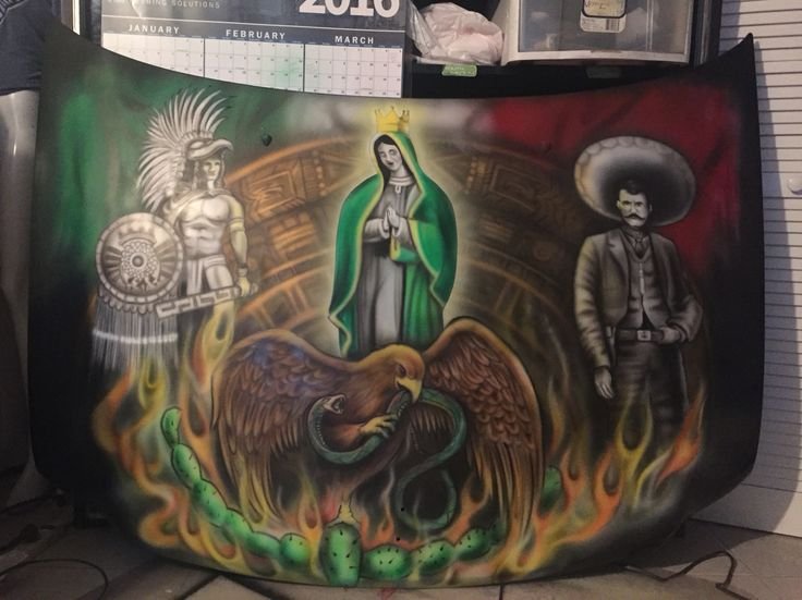 Best mexican flag eagle ideas on pinterest for Aztec mural tattoos