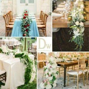 Дорожка для стола из живых цветов