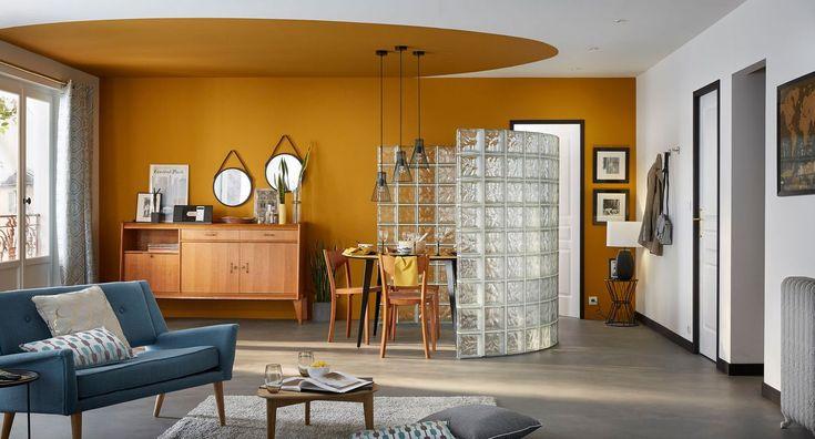 peinture salon 43 couleurs tendance pour repeindre le. Black Bedroom Furniture Sets. Home Design Ideas