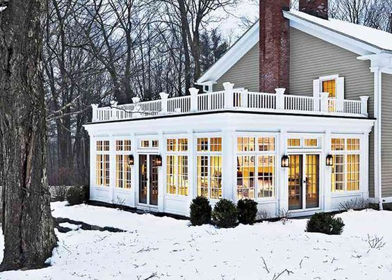 I want to curl up in that sunroom on a snowy day and read a novel. I bet it's stunning to watch the snow fall in. /ES