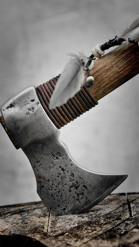 This tomahawk looks like, though it could be used for throwing, it is better for melee fighting. Very beautiful, blade, she has, though.