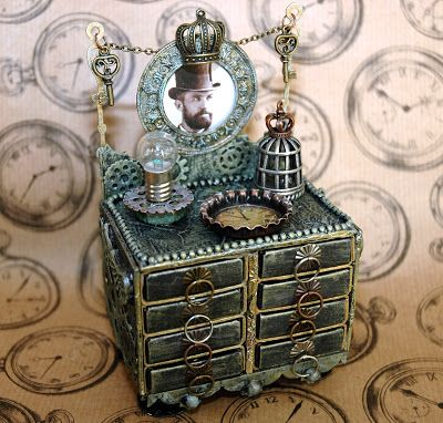 SanDee & amelie's Steampunk Challenges - made with matchboxes, by Candy Colwell - AMAZING!!!!!!!!!