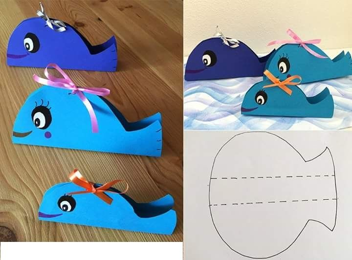 how to make whale with craft paper
