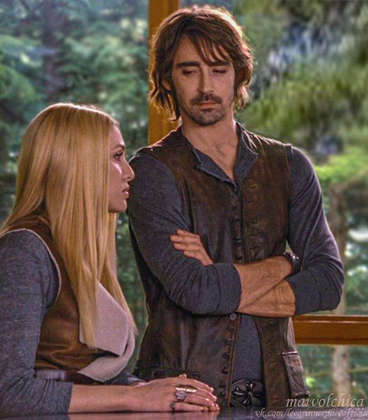 "Lee Pace as Garrett and Casey Labow as Kate in a scene from Breaking Dawn 2. | Favorite Garrett line: ""If we live through this, I'll follow you anywhere, woman."""