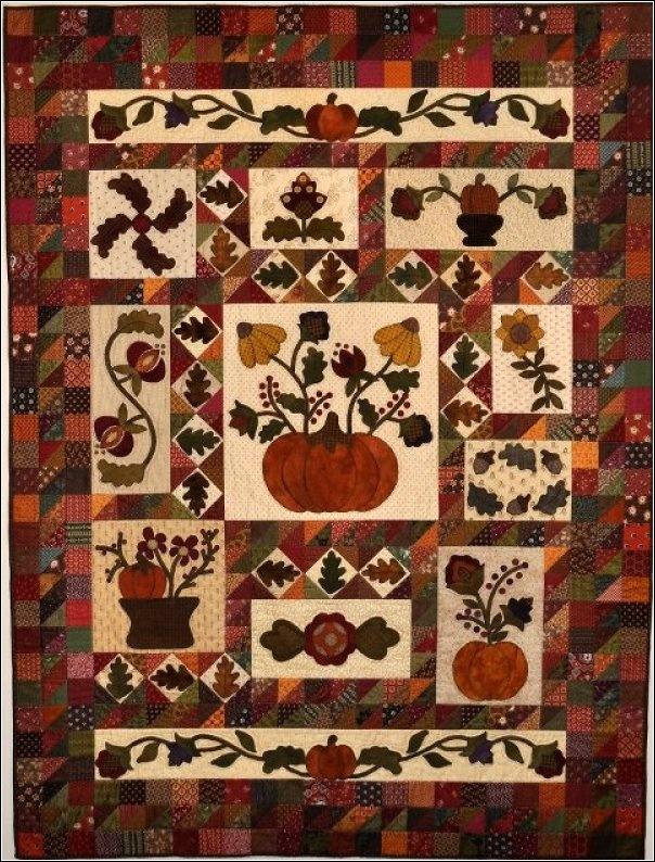 123 best Block of the Month Quilts images on Pinterest | Home ... : free autumn quilt patterns - Adamdwight.com