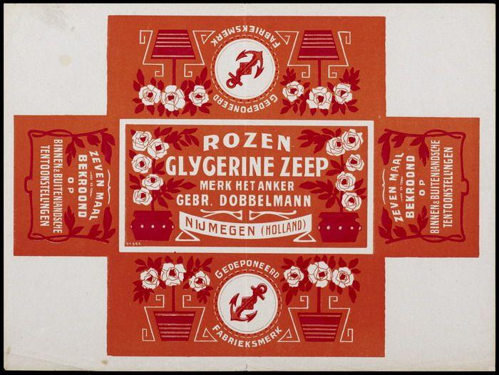 Packaging design - Rozen Glycerine Zeep (±1895-1919) Nijmegen, The Netherlands