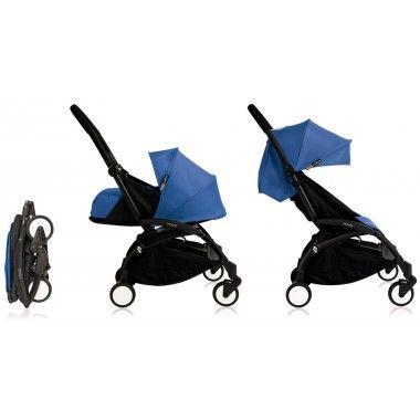 Nouvelle poussette Babyzen Yoyo Plus 0+ et 6+ Bleue châssis noir 2016
