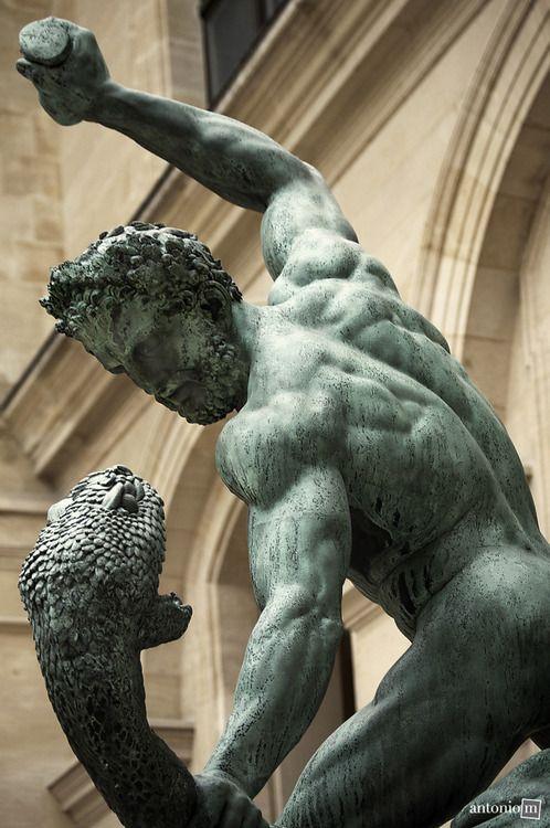 Hercules fighting Achelous, designed by the sculptor Francois Joseph Bosio (1824), Louvre Museum, Paris I