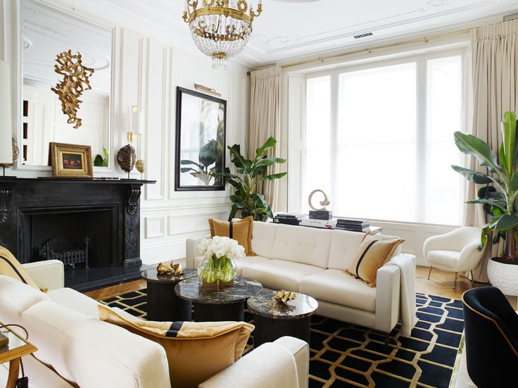 A Classic London Townhouse Apartment Gets a Glamorous Art Deco–Inspired Makeover