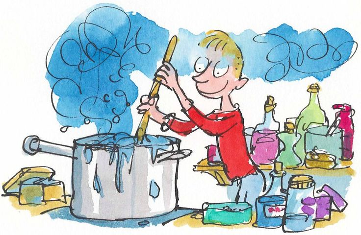 George's Marvellous Medicine, drawn by Quentin Blake  - BBC - Books Features - Quentin Blake on working with a big friendly giant