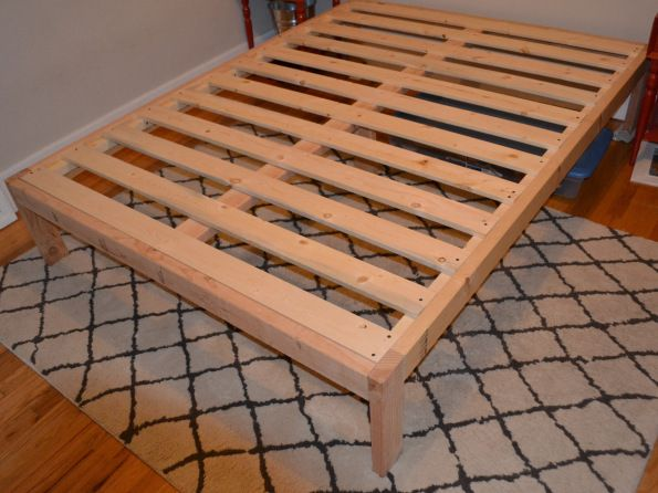 DIY Bed Frame with Storage | Diy Storage Bed Frame Plans full size bed dimensions