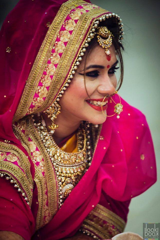 Pretty bride! LookBookPictures, Lucknow  #weddingnet #wedding #india #lucknowwedding #indian #indianwedding #weddingphotographer #candidphotographer #weddingdresses #mehendi #ceremony #realwedding #lehenga #lehengacholi #choli #lehengawedding #lehengasaree #saree #bridalsaree #weddingsaree #indianweddingoutfits #outfits #backdrops  #bridesmaids #prewedding #photoshoot #photoset #details #sweet #cute #gorgeous #fabulous #jewels #rings #tikka #earrings #sets #lehnga #love #inspiration