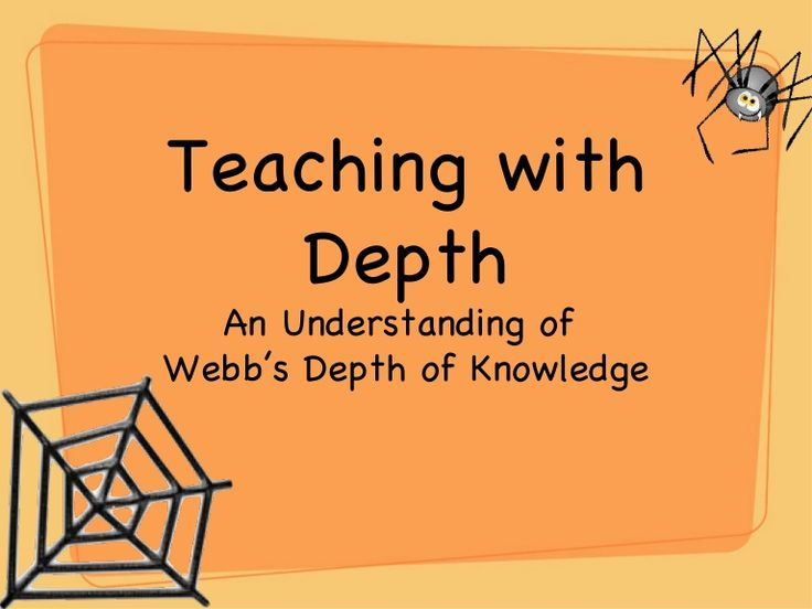 Teaching with depth understanding  webb's depth of knowledge some good info - speaks to Florida