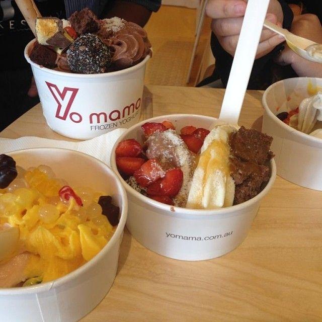 Frozen yogurt from Yo Mama, Melbourne.