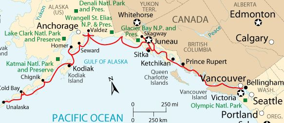 dutch harbor map alaska | Check out all the stops on the Alaska Marine Highway System!