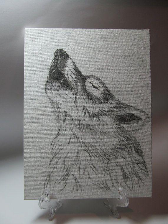 Картина   Волк  от MyLovelyFantasy на Etsy