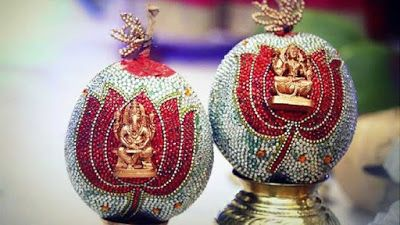 Wedding Decorations: Decorated coconuts & South Indian weddings!