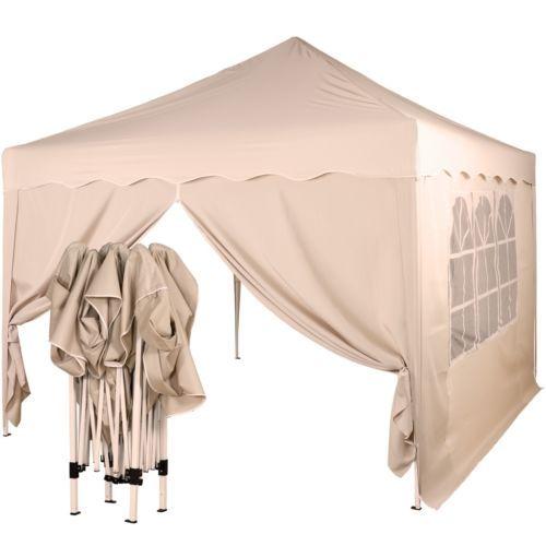 klapp falt pavillon 3x3m wasserdicht farbe seiten w hlbar zelt gartenzelt ebay hochzeit. Black Bedroom Furniture Sets. Home Design Ideas