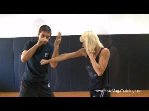 Krav Maga - Inside Defense Low (Correct Arm Position) - YouTube