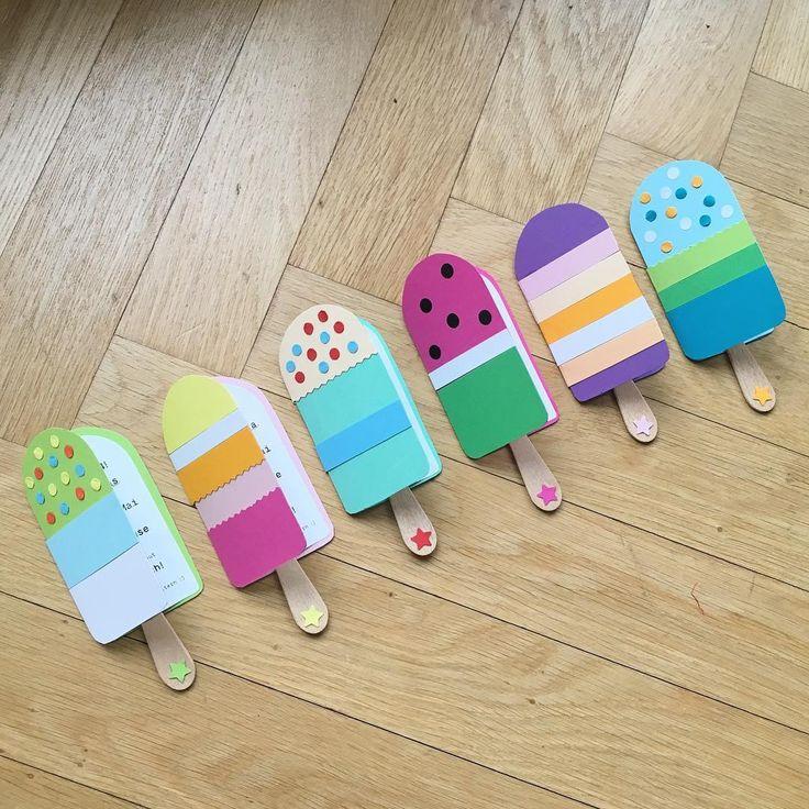 Fertig 🎉😀#kindergeburtstag #einladungskarten #diy #makesomething #selbstgemacht #einladung #party #eis