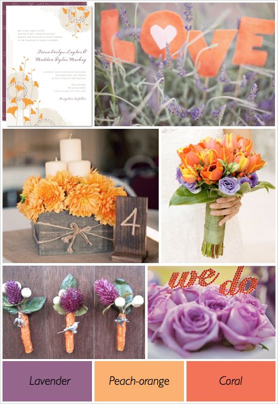 67 best images about mirmir 39 s burnt orange and lavender for Color themes for wedding