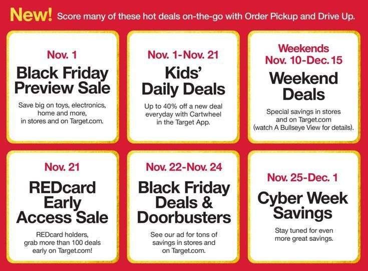 Today Target Is Having A One Day Only Early Black Friday Sale