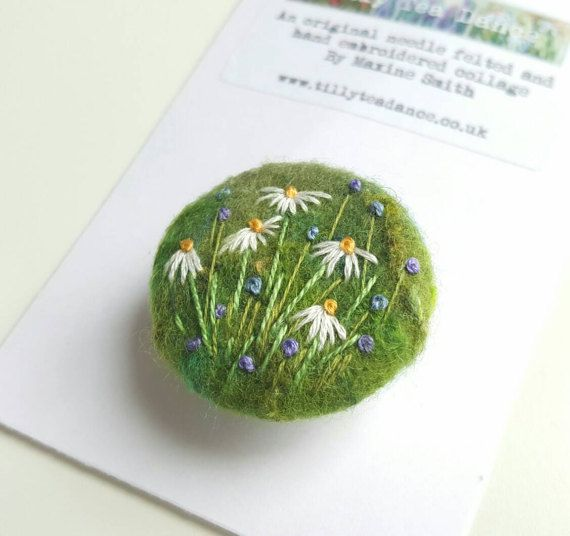 Check out this item in my Etsy shop https://www.etsy.com/uk/listing/510405021/delicate-daisy-needle-felted-and