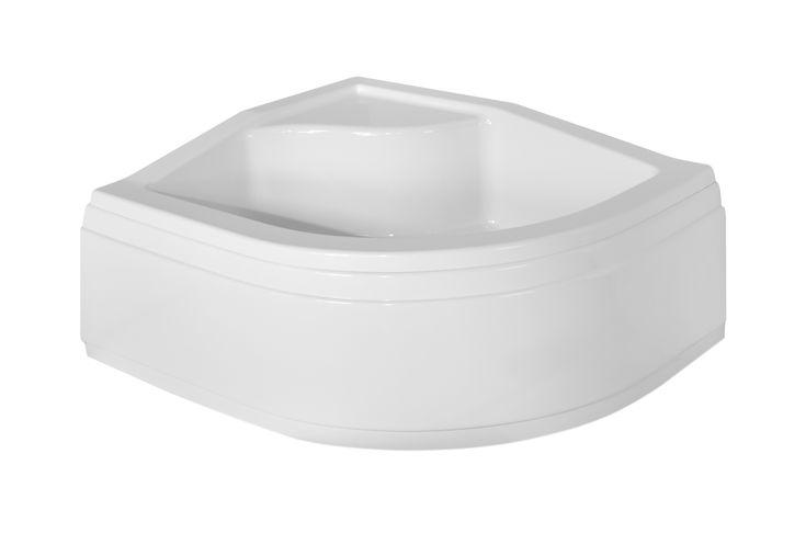 #Brodzik z #siedziskiem, wykonany z akrylu sanitarnego. #PMD #Besco  o rozmiarach 100 x 80 x 20cm.
