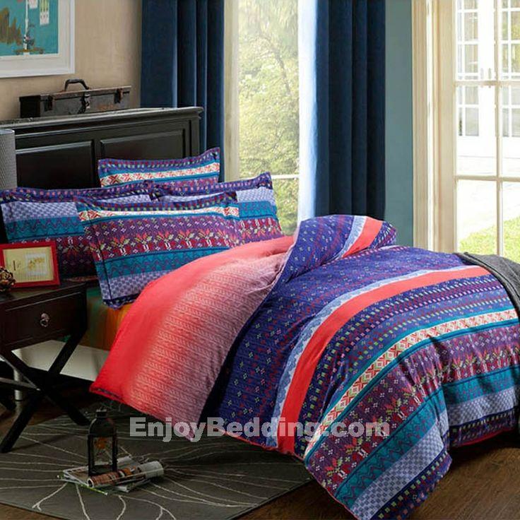 Stripe and Bohemian Bedding Sets - EnjoyBedding.com