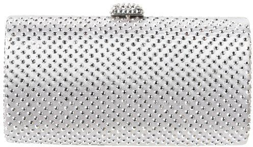 Magid 6687 Clutch,Silver/Silver,One Size on shopstyle.com