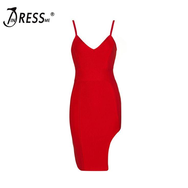 INDRESSME Free Shipping 2017 Sexy Spaghetti Strap Sleeveless Split Mini Bandage Club Party Dress Summer