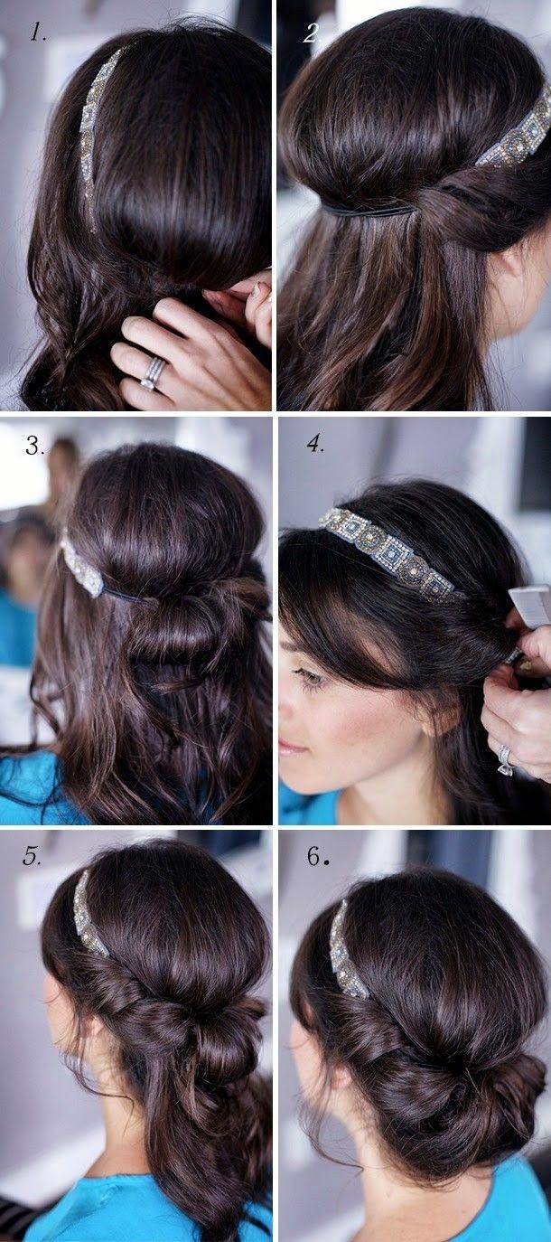 Para agradar Gregos e Troianos: Além de laquê e grampos, você vai precisar de uma bela hairband que combine com o vestido da formatura.
