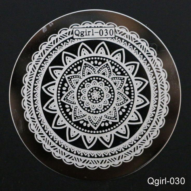 1Pcs Big Flower Nail Stamping Plates Nail Art Templates Steel Polish Konad Nail Stamp Manicure Template Qgirl030