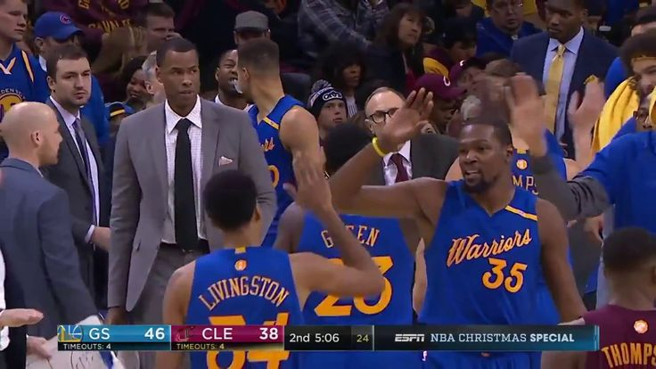 Warriors vs Cavaliers Durant Transition Slam outlet pass from Livingston! NBA Today Dec25 2016