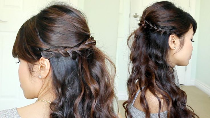Prom Hairstyle: Braided Half-Updo feat. NuMe Reverse Curling Wand (+play...