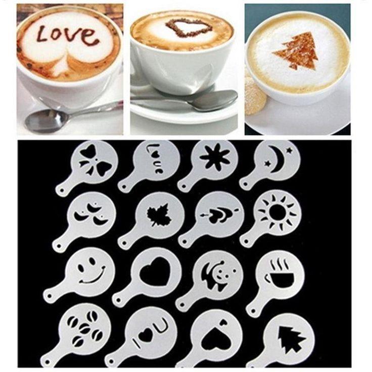16pcs / Set Pop DIY Mode Kaffee Schablonen strew Pad Spray Druck Kunst Ρ | Haushaltsgeräte, Kaffee & Espressomaschinen, Zubehör & Ersatzteile | eBay!