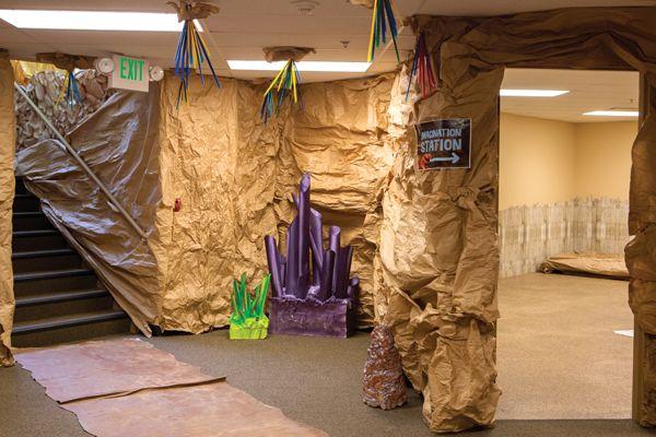 Cave Quest Imagination Station Entrance Decor