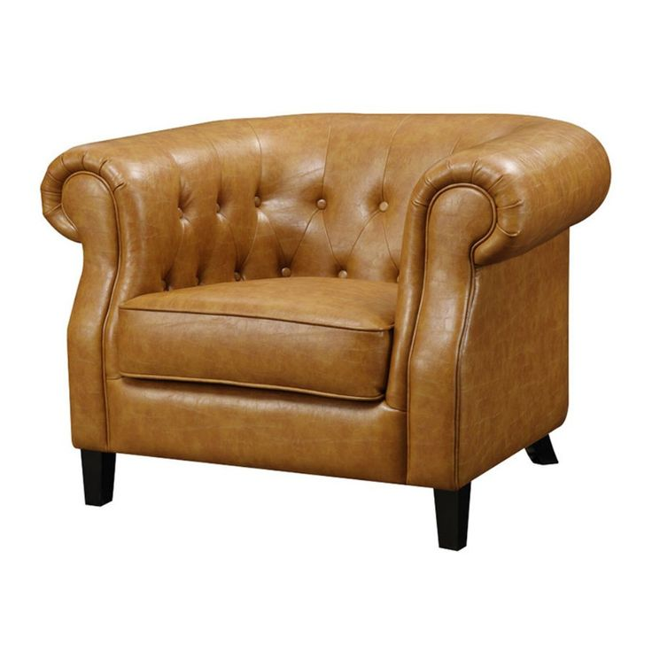 emerald home soho tufted accent chair caramel